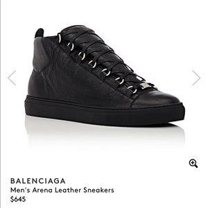 Men Balenciaga Lambskin Hi top Sneakers